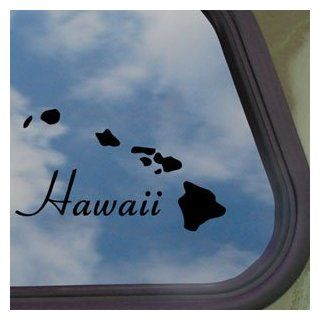 Hawaii Island Aloha Black Decal Car Truck Window Sticker   Automotive Decals