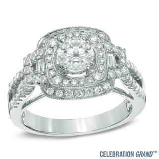 Celebration Grand® 1 1/4 CT. T.W. Diamond Vintage Style Frame