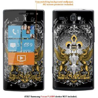 Protective Decal Skin Sticker for AT&T Samsung Focus Flash (Only fit Focus Flash Model) case cover FocusFLASH 9 Cell Phones & Accessories