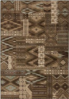 Shop 7.75' x 10.5' Southwest Squares Brown and Teal Area Throw Rug at the  Home D�cor Store. Find the latest styles with the lowest prices from Diva At Home