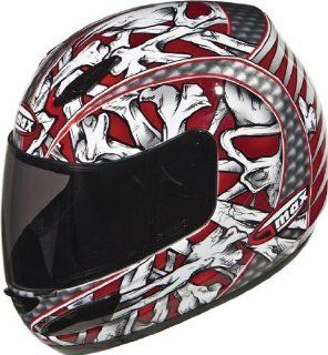 G Max GM48 Bones Helmet , Distinct Name Red/White/Silver/Black, Helmet Type Full face Helmets, Helmet Category Street, Primary Color Red, Size Sm, Gender Mens/Unisex 948204 TC 1 Automotive