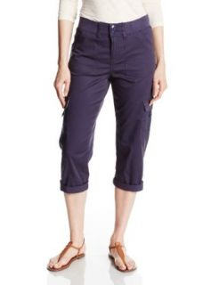 Lee Women's Easy Fit Kendall Knit Waist Cargo Capri