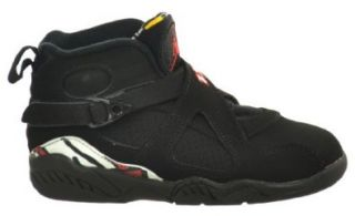 "Jordan 8 Retro (PS) ""Playoff"" Little Kids Basketball Shoes Black/Varsity Red White Bright Concord Jordan Shoes For Kids Shoes"