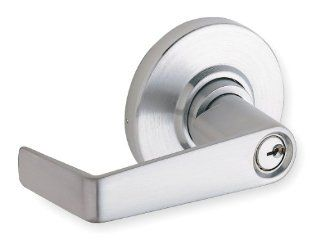 Schlage commercial AL80PDSAT626 AL Series Grade 2 Cylindrical Lock, Storeroom Function, Saturn Lever Design, Satin Chrome Finish Door Levers