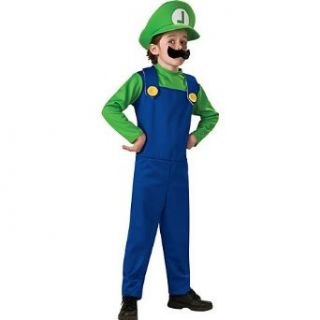 Super Mario Brothers Luigi Costume Boy Clothing