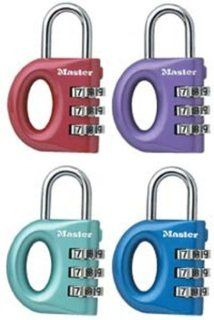 Master Lock 633D Satin Metallic Finish Luggage Lock, Set your Own Combination (Colors may vary)