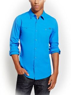 G by GUESS Men's Norton Long Sleeve Shirt at  Men�s Clothing store