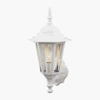 Craftmade Z150 04 Traditional / Classic Single Light Up Lighting Small Outdoor Wall Sconce from th, White   Wall Porch Lights