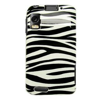 Hard Snap on Plastic BLACK With WHITE ZEBRA Design Sleeve Faceplate Cover Case for MOTOROLA MB860 ATRIX 4G (AT&T) [WCS420] Cell Phones & Accessories