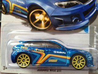 Hot Wheels HW Showroom Subaru WRX STI #25/250 (10 Yellow Spoke Wheel) Toys & Games