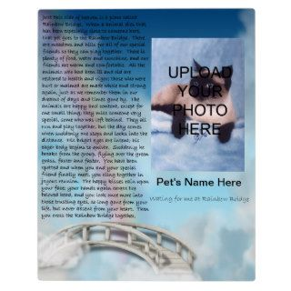 Pet Memorial Rainbow Bridge Plaque   Personalize
