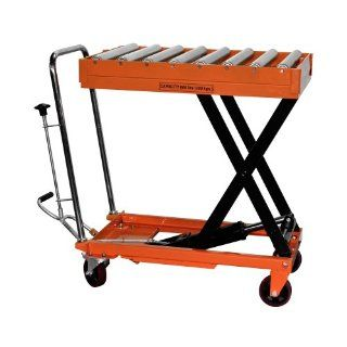 "Bolton Tools New Hydraulic Foot Operated Scissor Roller Top Lift Table Cart Hand Truck   660 LB of Capacity   51.2"" Max Height   Model TF30R"