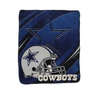NFL Dallas Cowboys Super Soft Plush Thermal Blanket / Fleece Couch Throw   Blue & Grey  Sports Fan Throw Blankets  Sports & Outdoors