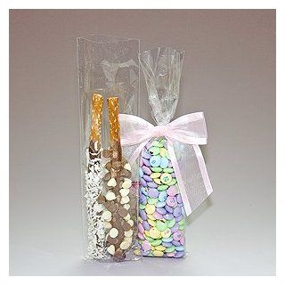 100 Bag Set   Top Quality 3 x 11 Cello Cellophane Bags   Acrylic Coated Crisp Crystal Clear 1.2 Mil  Gift Wrap Bags  Toys & Games