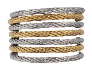 Charriol Ring Modern Cable Mix 02 34 S760 00 Stainless Steel Gold