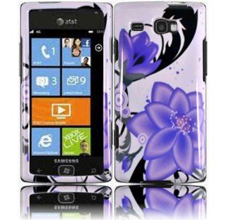 Violet Lily Hard Case Cover for Samsung Focus Flash i677 Cell Phones & Accessories