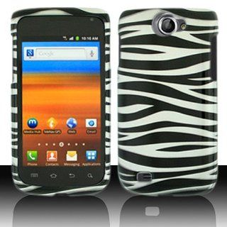Black White Zebra Stripe Hard Cover Case for Samsung Galaxy Exhibit 4G SGH T679 Cell Phones & Accessories