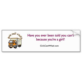 Light Female Truck Driver Bumper Stickers