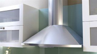 Zephyr ZSA E30BS 685 CFM 30 Inch Wide Wall Mounted Range Hood with Halogen Lighting from the Savo, Stainless Steel