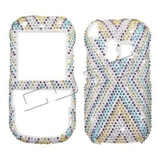PALM Centro 690/685   X CROSS Design   Brown/Yellow/Blue/Silver   Full Rhinestones/Diamond/Bling/Diva   Hard Case/Cover/Faceplate/Snap On/Housing Cell Phones & Accessories