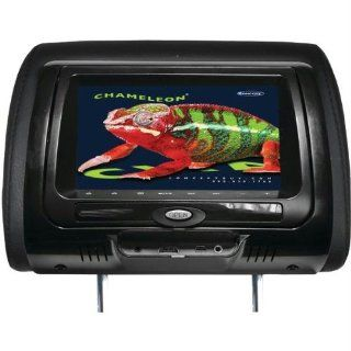 Concept Cld 703 7 Chameleon Headrest Monitor With Hd Input Built In Dvd Player Touch Buttons & High Audio Output  Vehicle Headrest Video