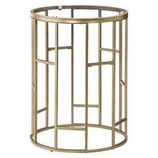 Accent Table Threshold Round Accent Table   Gold