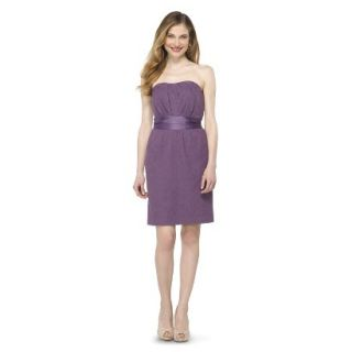 TEVOLIO Womens Lace Strapless Dress   Plum Spice   6