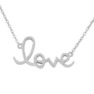 Sterling Silver White Gold Love Heart Charm Womens Girls Pendant Necklace My Daily Styles Jewelry