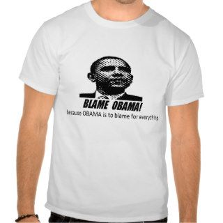 'BLAME OBAMA' FUNNY FOOD STAMP TEE SHIRT