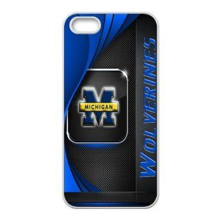 Specialcase Fashion Design Funny NCAA Michigan Wolverines logo case cover for Apple iPhone 5 5s, Best Durable Michigan Wolverines phone case Cell Phones & Accessories