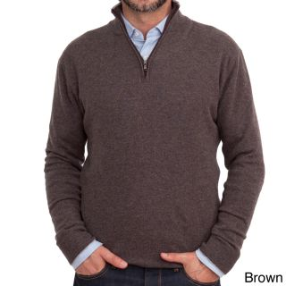 Luigi Baldo Luigi Baldo Italian Made Mens Cashmere 1/4 Zip Sweater Brown Size 2XL