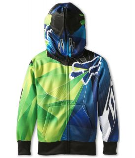 Fox Kids Radeon Fleece Full Zip Hoodie Big Kids Day Glo Green