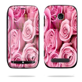 Protective Vinyl Skin Decal Cover for Nokia Lumia 710 4G Windows Phone T Mobile Cell Phone Sticker Skins Pink Roses Cell Phones & Accessories
