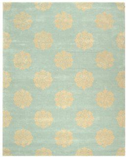 Safavieh Soho Collection SOH724A Handmade New Zealand Wool Area Rug, 8 Feet 3 Inch by 11 Feet, Light Blue