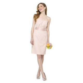 TEVOLIO Womens Lace Strapless Dress   Peach   4