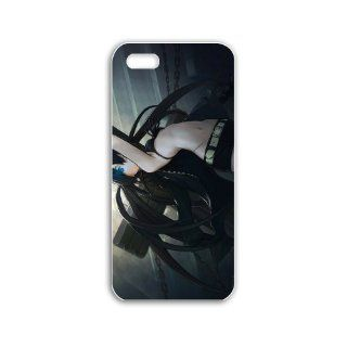 Diy Apple Iphone 5/5S Anime Series Black Case rock shooter anime Black Case of Fashion Case Cover For Women Cell Phones & Accessories