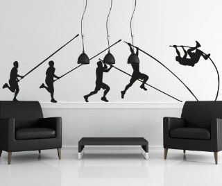 Stickerbrand Vinyl Wall Decal Sticker Pole Vault Launch OS_AA737B   Wall Decor Stickers