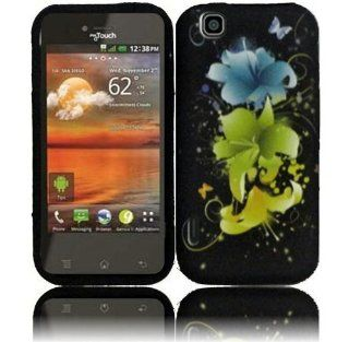 Magic Flowers TPU Candy Case Cover for T Mobile Mytouch E739 LG Maxx Touch Cell Phones & Accessories