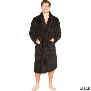 Del Rossa Mens Soft Shawl Collar Fleece Robe