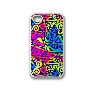 CellPowerCasesTM Aztec Rainbow iPhone 4 Case White   Fits iPhone 4 & iPhone 4S Cell Phones & Accessories