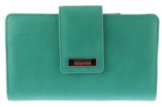Kenneth Cole Reaction Women's PVC Utility Clutch Marbled Style W/ Mirror 735 (Aquamarine) Shoes