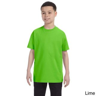 Gildan Gildan Youth Heavy Cotton T shirt Green Size L (14 16)