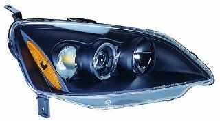 IPCW CWS 736B2 Honda Civic Black Projector Head Lamp with Rings   Pair Automotive