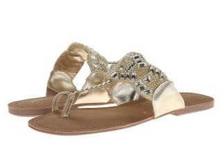 Kenneth Cole Reaction Jaded Coin 2 Womens Sandals (Gold)