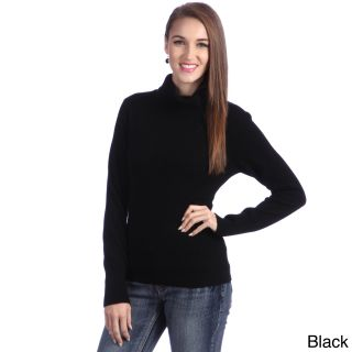 Luigi Baldo Italian Made Luigi Baldo Womens Italian Cashmere Turtle Neck Sweater Black Size S (4  6)