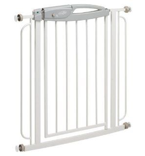 Evenflo Summit Pressure Mounted Gate. One hand release; red/green lock indicator; neutral styling. (Product Group Pet Accessories / Gates)  Indoor Safety Gates  Baby