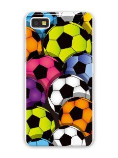 GR�V Premium Case 'Football Multicolor Soccer Balls' Design for Blackberry Z10 (Best Quality Designer Print on White hard cover) Cell Phones & Accessories