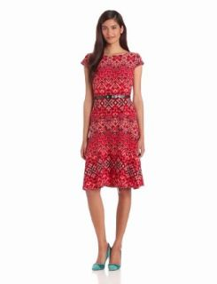Anne Klein Women's Aztec Burst Swing Dress, Capri Multi, 6