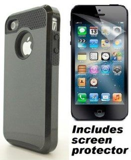 Black Commuter Defender DualPro Style Cover Case & Screen Protector for Apple iPhone 4S 4 Cell Phones & Accessories
