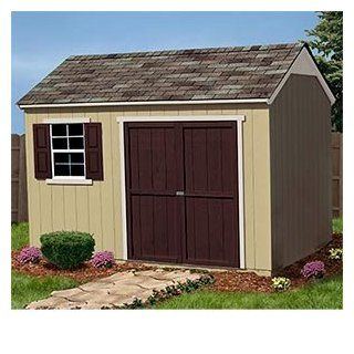 "Burlington 12' X 8' Wood Shed Solid 2"" X 4"" Wood Framing, 768 Cubic Feet of Storage, Pre cut and Ready for Assembly  Window Decoration For Shed  Patio, Lawn & Garden"